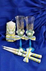 Свадебные бокалы,  шампанское,  замочки и др.- ручная работа