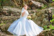 Продам свадебное платье цвет шампань