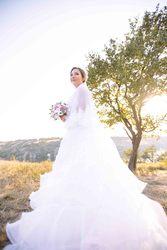 Стань настоящей принцессой!Воздушное свадебное платье!A-силуэт,  батал.