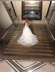 Шикарное свадебное платье ручной роботы