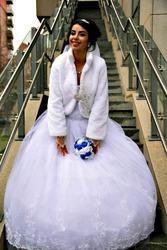 Свадебное платье б/у,  пышное