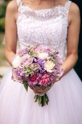 Продам свадебное платье розового цвета
