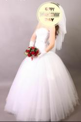 Продам свадебное красивое платье!
