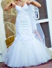 Продам модельное свадебное платье!!!(Рыбка)